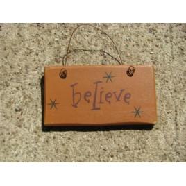 1004B - Believe mini wood sign