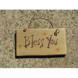 1004Y- Bless You mini wood sign