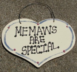 MeMaws Are Special 1007  Large Wood Heart