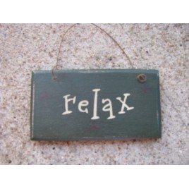 1008R - Relax Green Mini Sign