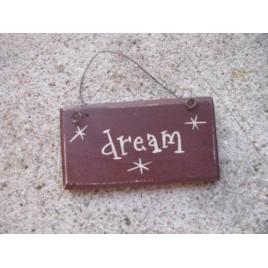 1008D - Dream mini wood sign