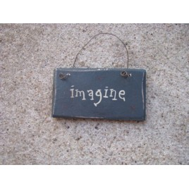 1009IM - Imagine MINI wood sign