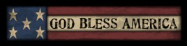 Primitive Wood Block 100GBA - God Bless America