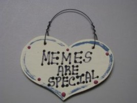 1016 - Memes Are Special small wood heart