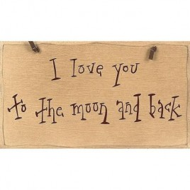 1045CP- I love you To the Moon & Back wood sign