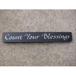 Primitive Decor 10524G - Count Your Blessings Sign