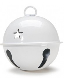 Metal Christmas Ball Ornament 1055910- White Bell