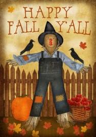 2346HFY- Happy Fall Y'all House Flag