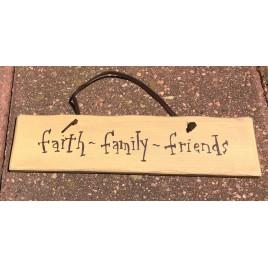 1076CP-Faith Family Friends wood sign