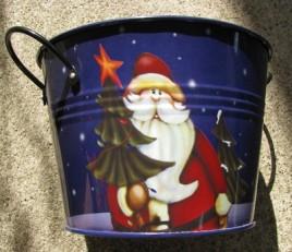 KLY1077006 Santa Metal Bucket