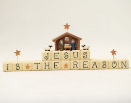 82643 Resin Block Jesus is the reason for the season