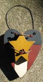 108SAH - Small America wood Heart