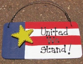 10977UWS - United We Stand! Wood Sign