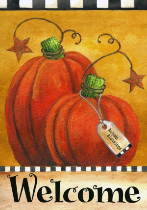 House Flag 1104PAWHF - Pumpkin Autumn Welcome
