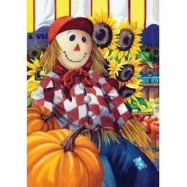 Fall Garden Flag 110551 -  Farm Scarecrow