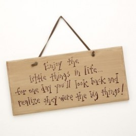 1106CP-Enjoy the Little Things in life wood sign