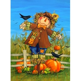 Fall Scarecrow Garden Flag 11210SGF - October Scarecrow