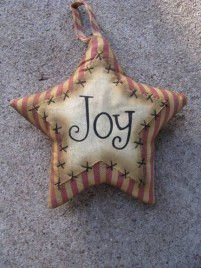 Primitive Decor 1146089SJ - Joy Star Stripped