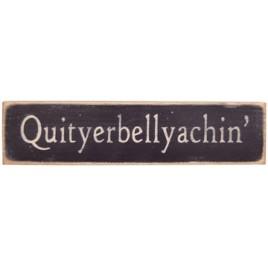Quityerbellyachin Block 12547 Hand Painted Black Wood