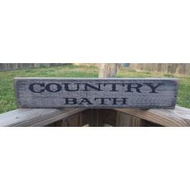 Primitive Wood Block Country Bath 12561
