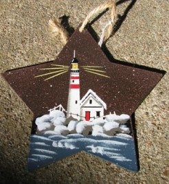 1287 - Metal - Lighthouse Star Ornament