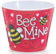 Valentine Plastic Pot Cover - 1287303 - Bee Mine Pot Cover