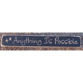 12AIP-Anything is Possible engraved wood block