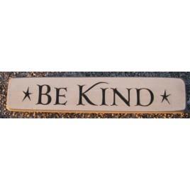 12BK Be Kind engraved wood block
