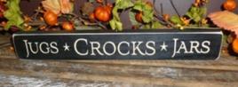 Primitive Engraved Wood Block  12JCJ Jugs Crocks Jars