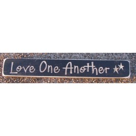 12LOA - Love One Another engraved wood block