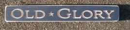 Primitive Engraved 12OG Old Glory Shelf Sitter Wood Block
