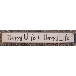 12HWHL-Happy Live Happy Wife Wood engraved block