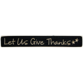 Primitive Engraved Wood Block Let Us Give Thanks
