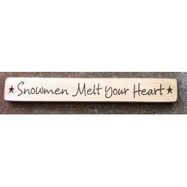 12XCRSMYH - Snowmen Melt Your Heart Engraved Wood Block