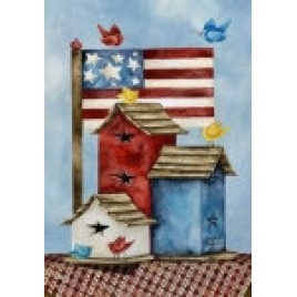 Freedom Birdhouses House Flag HFB1328