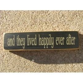 1495  And They Lived Happily ever after wood block