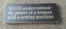 T1859SM- Sewing Machine Wood Sign