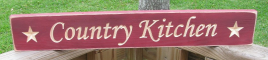 Primitive Wood Engraved Block  1704 Country Kitchen