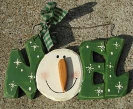 19805N - Noel wood sign