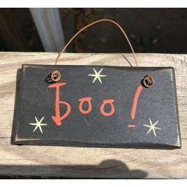 2001B - Boo wood sign