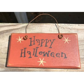 2001HH - Happy Halloween wood sign