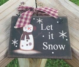 5780LIS - Let It Snow Sign