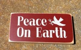 POE2069 Peace on Earth Wood Primitive Block