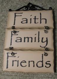 2392FFF-Faith Family Friends Wood Sign