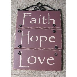 2392FHL-Faith Hope Love Wood Sign