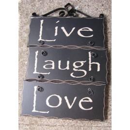 2392LLL-Love Live Laugh wood sign