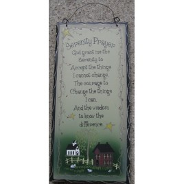 2476SPG Serenity Prayer  wood sign