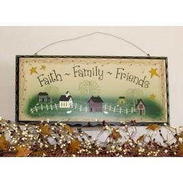 2481 - Faith Family Friends Wood Sign