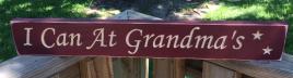 Primitive Engraved Wood Block I can at Grandma's