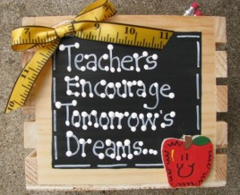 Teacher Gift  2701 - Teachers Encourage Tommorrow's Dreams Teacher Supply Box
